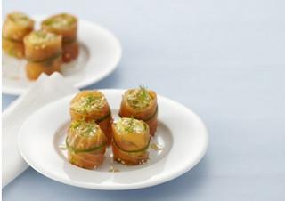Суши из картофеля с лососем
