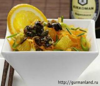 Салат из апельсинов и морковки