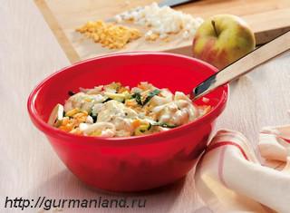 Яблочно-луковый салат
