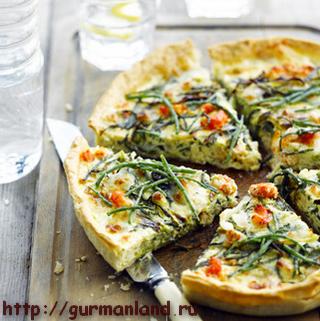Пирог с сыром и овощами