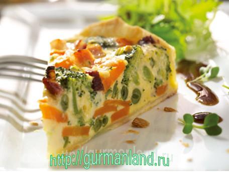 Овощной пирог с заварным кремом