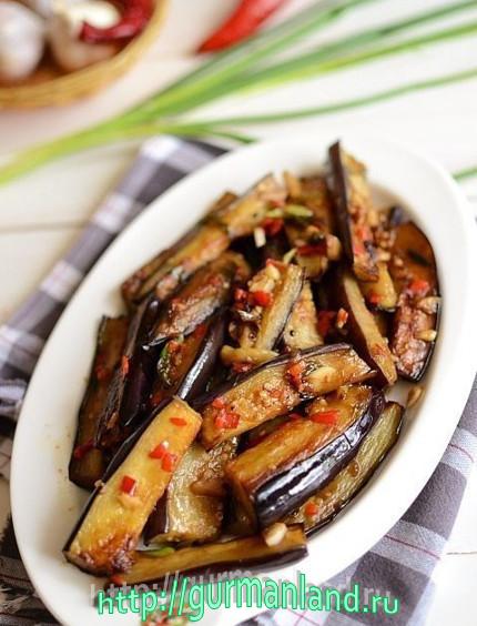 Баклажаны в пряном чесночном соусе